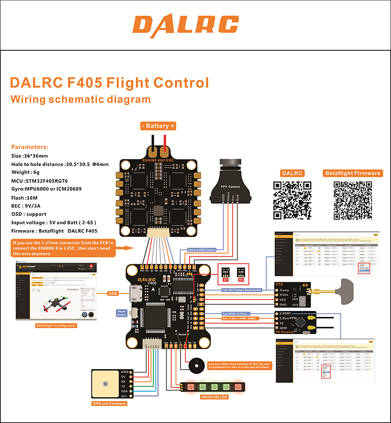 DALRC F405 Flight Controller