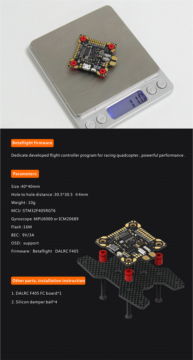 DALRC F405 AIO BetaFlight Flight Controller STM32 F405 Integrated